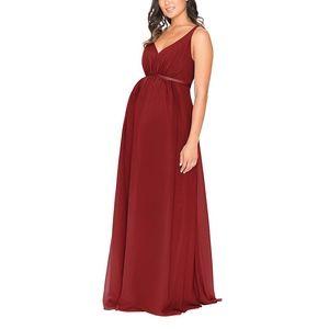 Red Maternity Formal Wedding Bridesmaid Dress